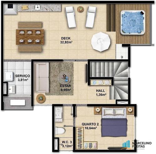 cobertura residencial à venda, coité, eusébio. - codigo: co0010 - co0010