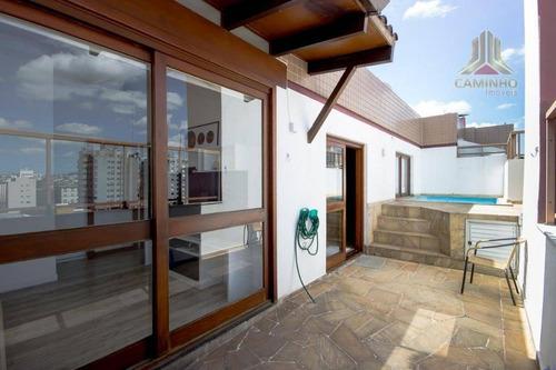 cobertura residencial à venda, cristo redentor, porto alegre. - co0442