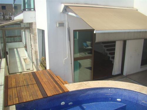 cobertura residencial à venda, gonzaga, santos - co0014. - co0014