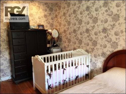 cobertura residencial à venda, gonzaga, santos. - co0125