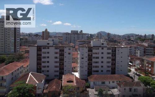 cobertura residencial à venda, gonzaga, santos. - co0179