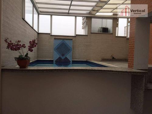 cobertura residencial à venda, jardim anália franco, são paulo - co0179. - co0179