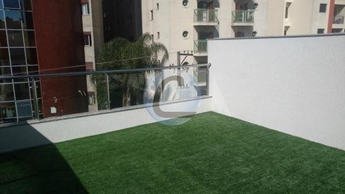 cobertura residencial à venda, jardim bela vista, santo andré. - co0167