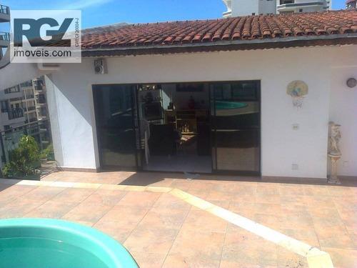 cobertura residencial à venda, jardim las palmas, guarujá. - co0119