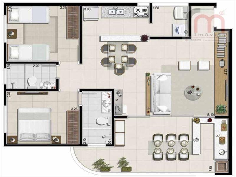cobertura residencial à venda, jardim são lourenço, bertioga - co0027. - co0027