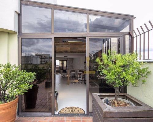 cobertura residencial à venda, moema, são paulo - co0110. - co0110