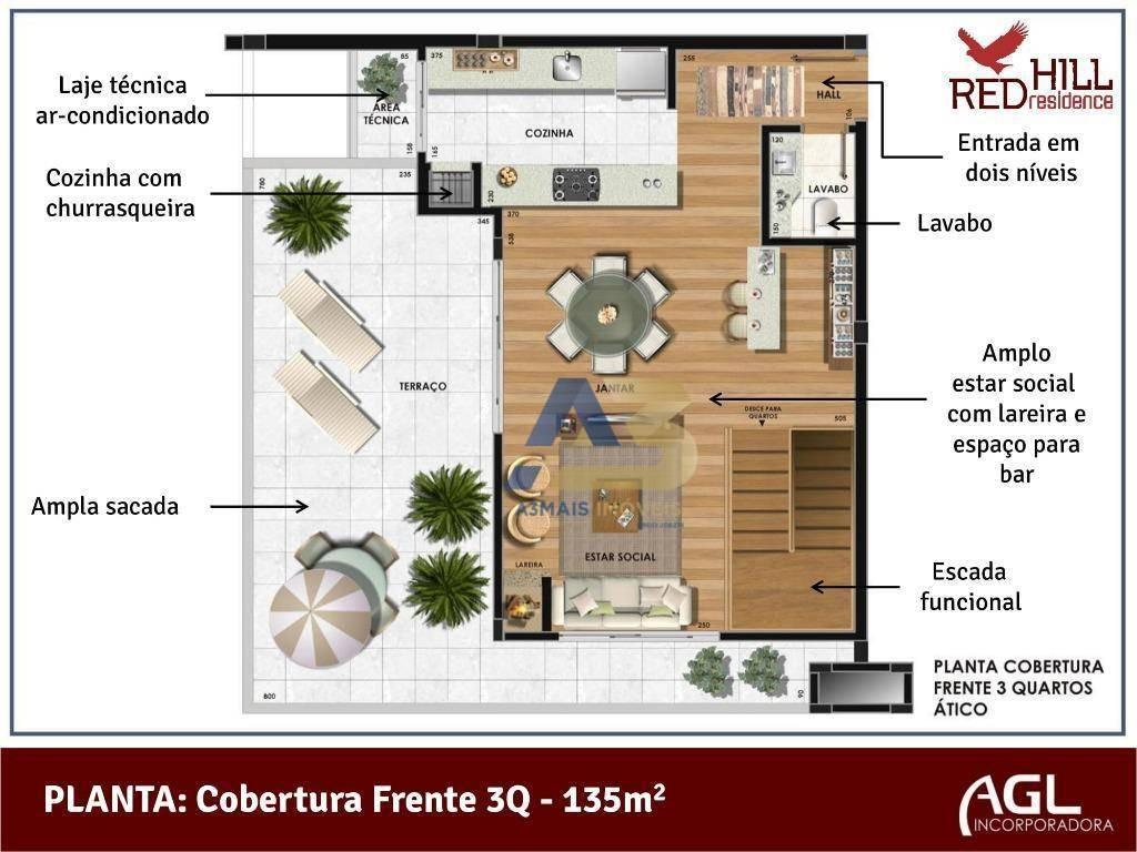 cobertura residencial à venda, novo mundo, curitiba. - co0002
