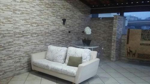 cobertura residencial à venda, parque capuava, santo andré. - co0644