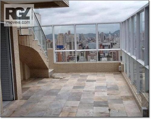 cobertura residencial à venda, pompéia, santos - co0041. - co0041