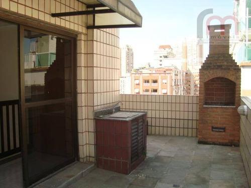 cobertura  residencial à venda, pompéia, santos. - codigo: co0016 - co0016