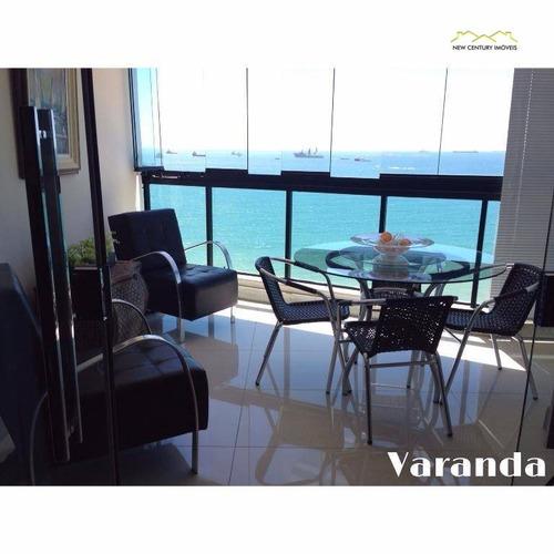 cobertura  residencial à venda, praia da costa, vila velha. - co0136