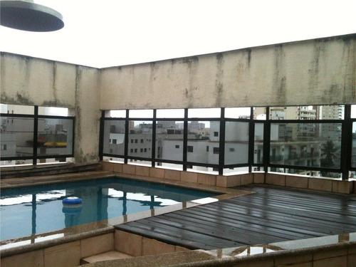 cobertura  residencial à venda, praia da enseada região dos hotéis, guarujá. - co0007