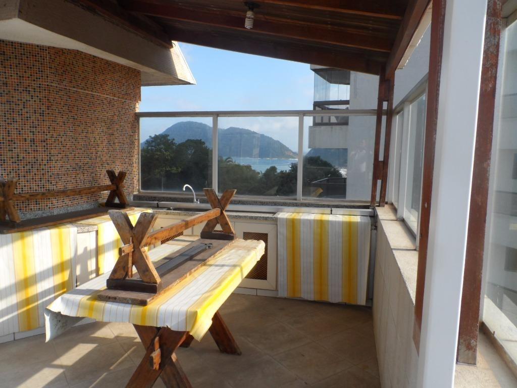 cobertura residencial à venda, praia das astúrias, guarujá. - co0103