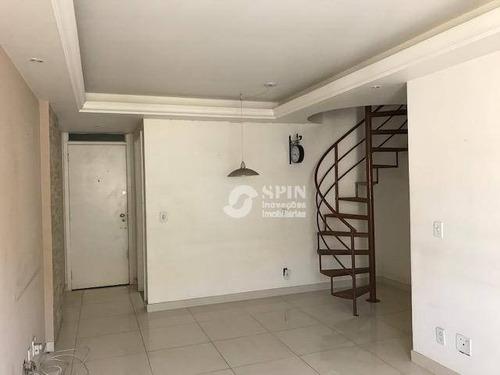 cobertura residencial à venda, santa rosa, niterói. - co0051