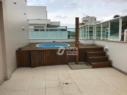 cobertura residencial à venda, santa rosa, niterói. - co0075