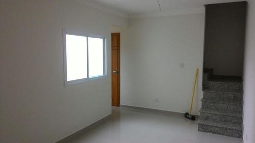 cobertura residencial à venda, utinga, santo andré. - co0550