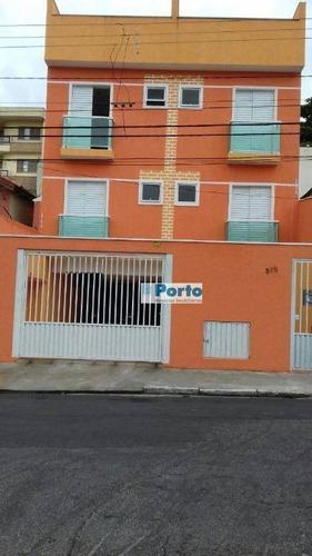 cobertura residencial à venda, vila camilópolis, santo andré - co0013. - co0013