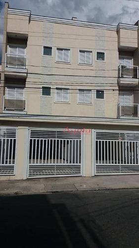 cobertura residencial à venda, vila camilópolis, santo andré. - co0568