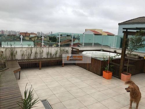 cobertura residencial à venda, vila camilópolis, santo andré. - co1062