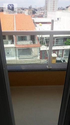 cobertura residencial à venda, vila camilópolis, santo andré. - co2476