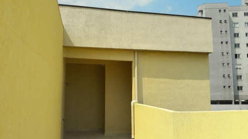 cobertura  residencial à venda, vila curuçá, santo andré. - co0025