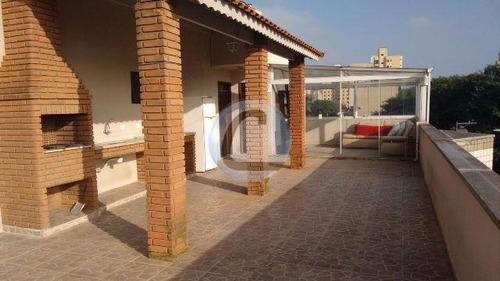 cobertura residencial à venda, vila mussolini, são bernardo do campo. - co0136