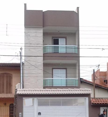 cobertura residencial à venda, vila pires, santo andré. - co0453