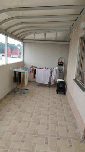 cobertura residencial à venda, vila tibiriçá, santo andré. - co0567