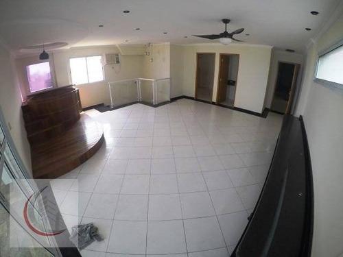cobertura residencial à venda, vila tupi, praia grande. - co0036