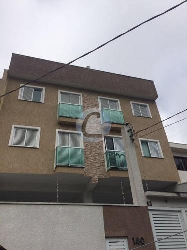 cobertura residencial à venda, vila vitória, santo andré. - co0268