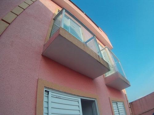 cobertura sem condomínio, 80m², 2 dormitórios, jardim alvorada, santo andré. - co0388