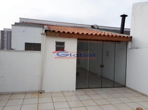 cobertura sem condomínio - v. homero thon - santo andré - gl39017