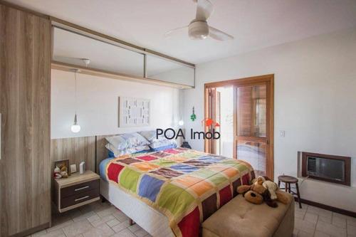 cobertura semi mobiliada com 03 dormitórios no bairro tristeza, porto alegre. - co0122