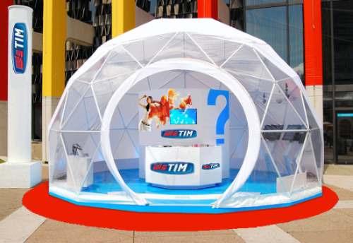 cobertura tenda cúpula boate móvel e festa