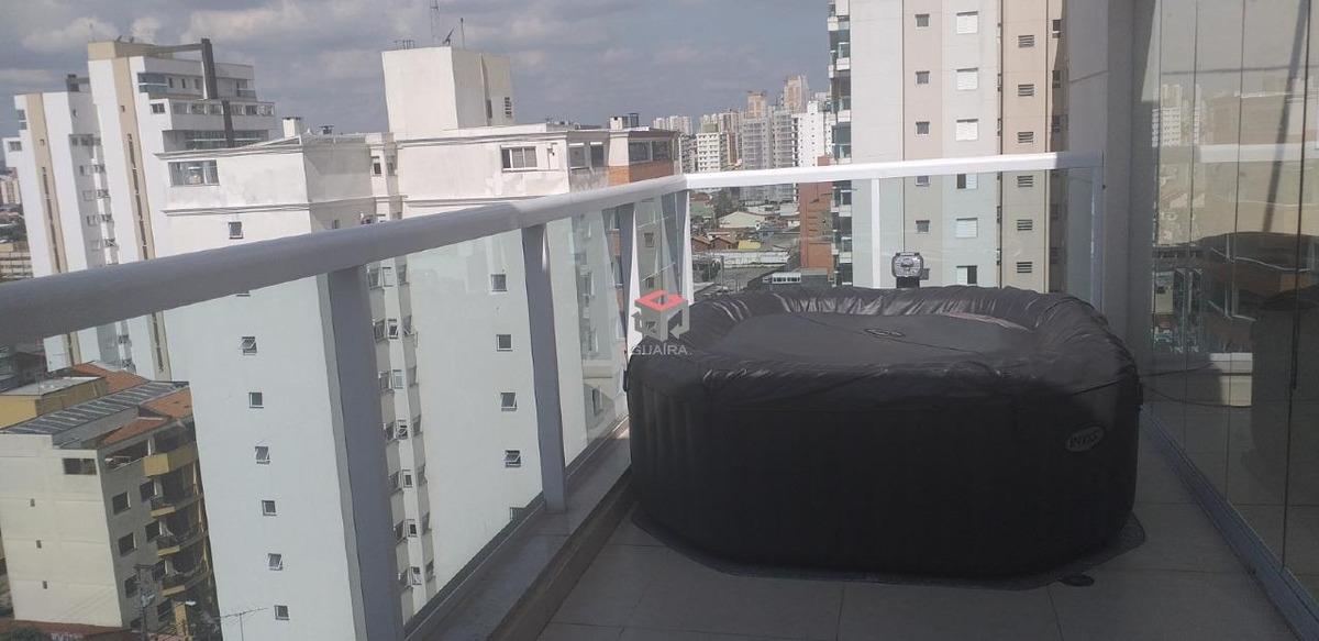 cobertura totalmente mobiliada com piscina privativa e acabamento em mármore carrara! - 37258