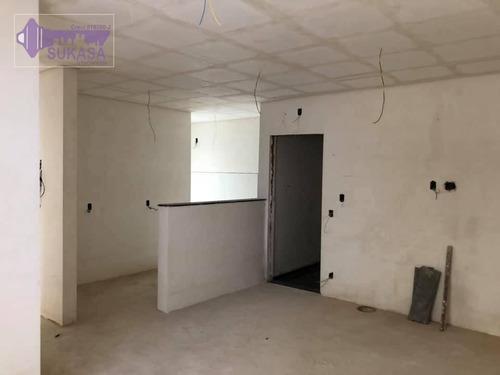 cobertura à venda, 138 m² por r$ 440.000,00 - vila pires - santo andré/sp - co0371
