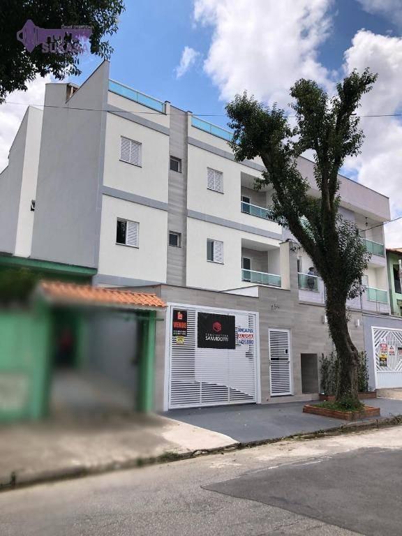 cobertura à venda, 138 m² por r$ 465.000,00 - vila pires - santo andré/sp - co0371
