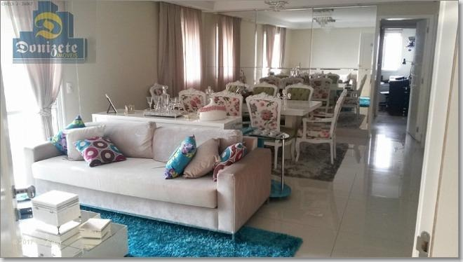 cobertura à venda, 232 m² por r$ 1.590.000,00 - jardim - santo andré/sp - co0066
