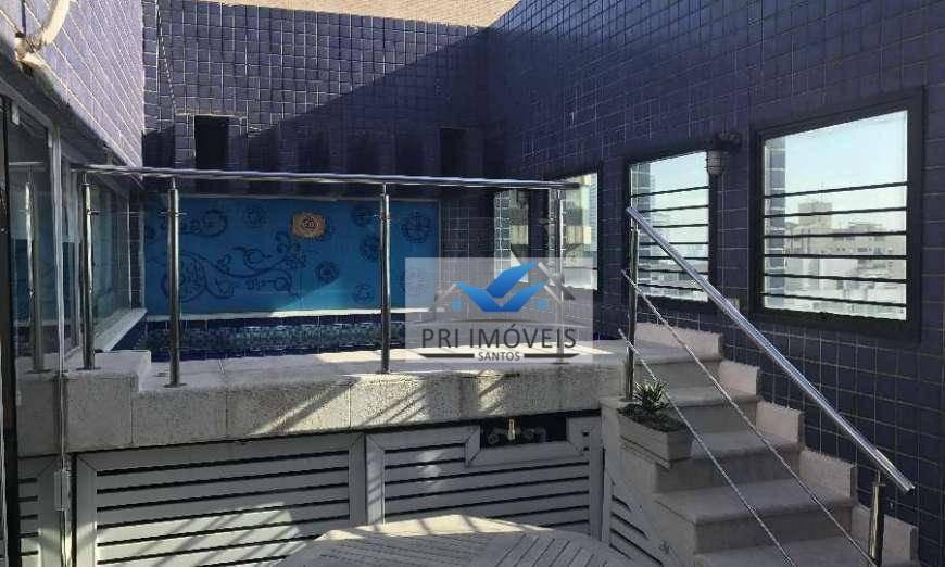 cobertura à venda, 260 m² por r$ 1.600.000,00 - ponta da praia - santos/sp - co0029