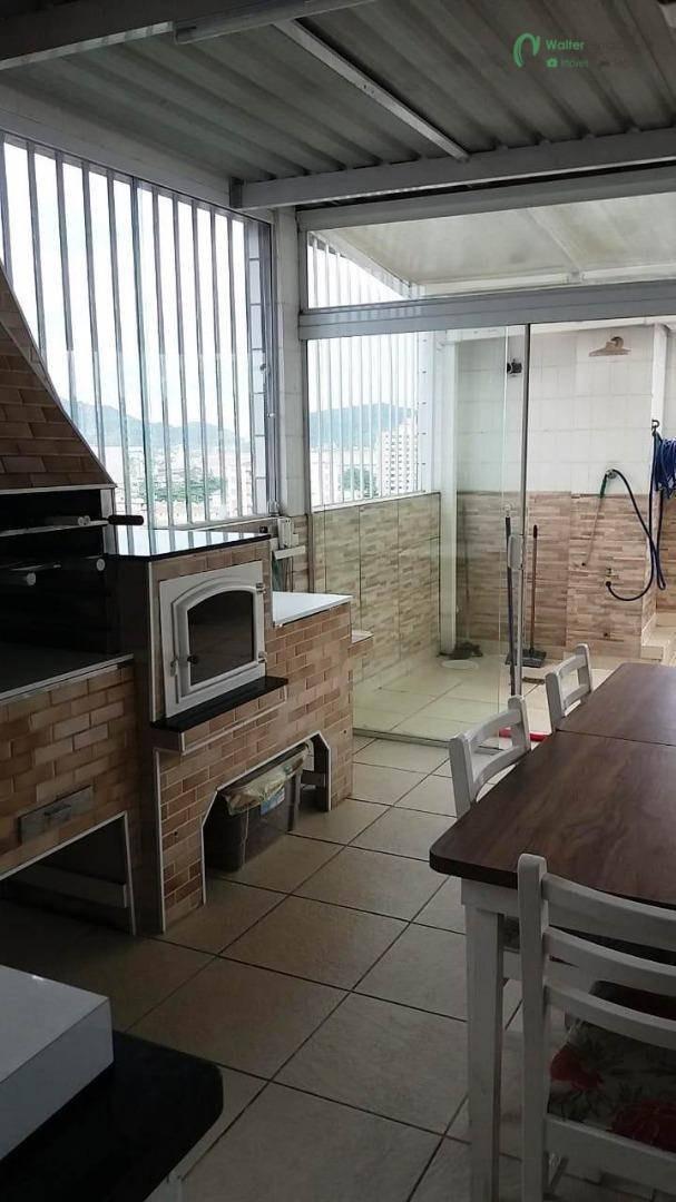 cobertura à venda, 305 m² por r$ 1.250.000,00 - aparecida - santos/sp - co0006