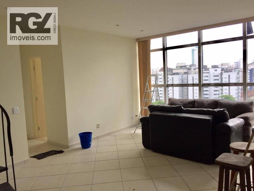 cobertura à venda, 318 m² por r$ 1.690.000,00 - aparecida - santos/sp - co0003