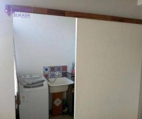 cobertura à venda, 70 m² por r$ 425.000,00 - vila pires - santo andré/sp - co0192