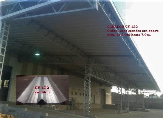 coberturas ,calaminas, techos,acanaldo t aluzin tr 4 curvo