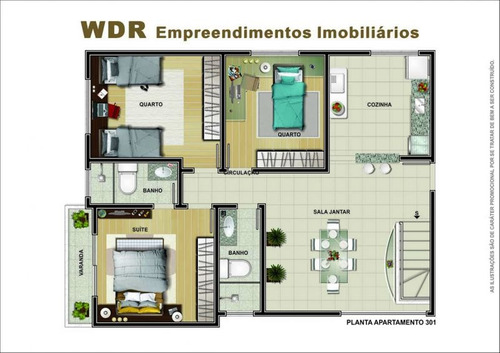 cobetura prédio novo elevador, 03 vagas - 1265