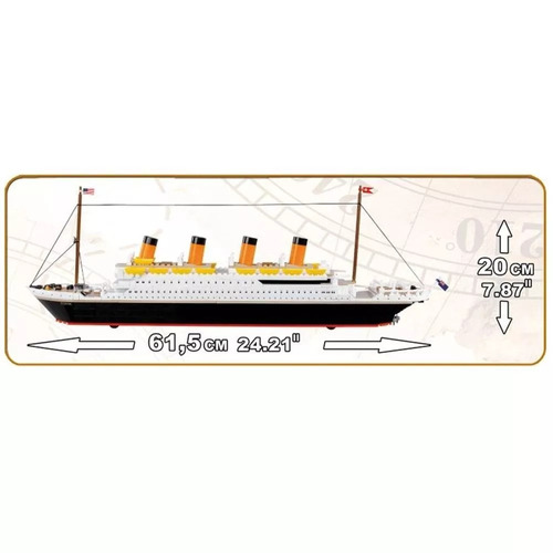 cobi lego bloco de montar r.m.s titanic 600 peças cobi1914a