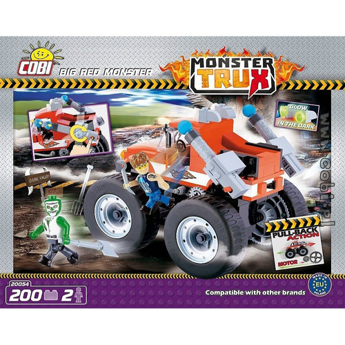 cobi monster trux big red monster x 200 piezas (8635)