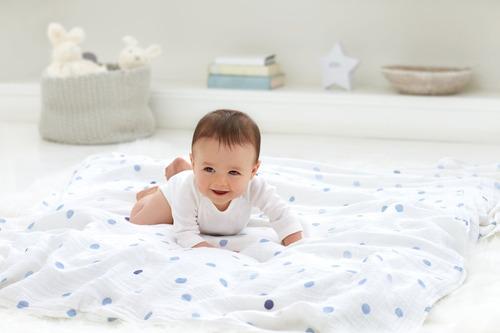 cobija clásica para bebés, estrella de rock, azul
