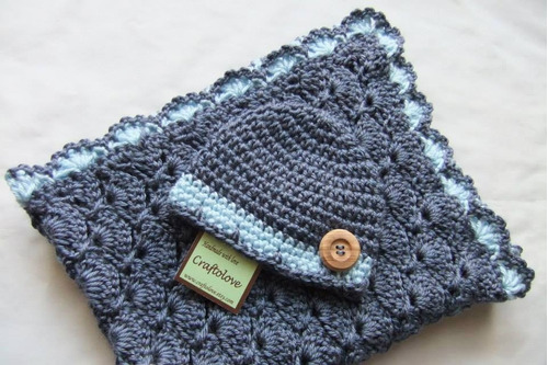 cobija cobijita manta mantita sabana  bebe niño niña tejida