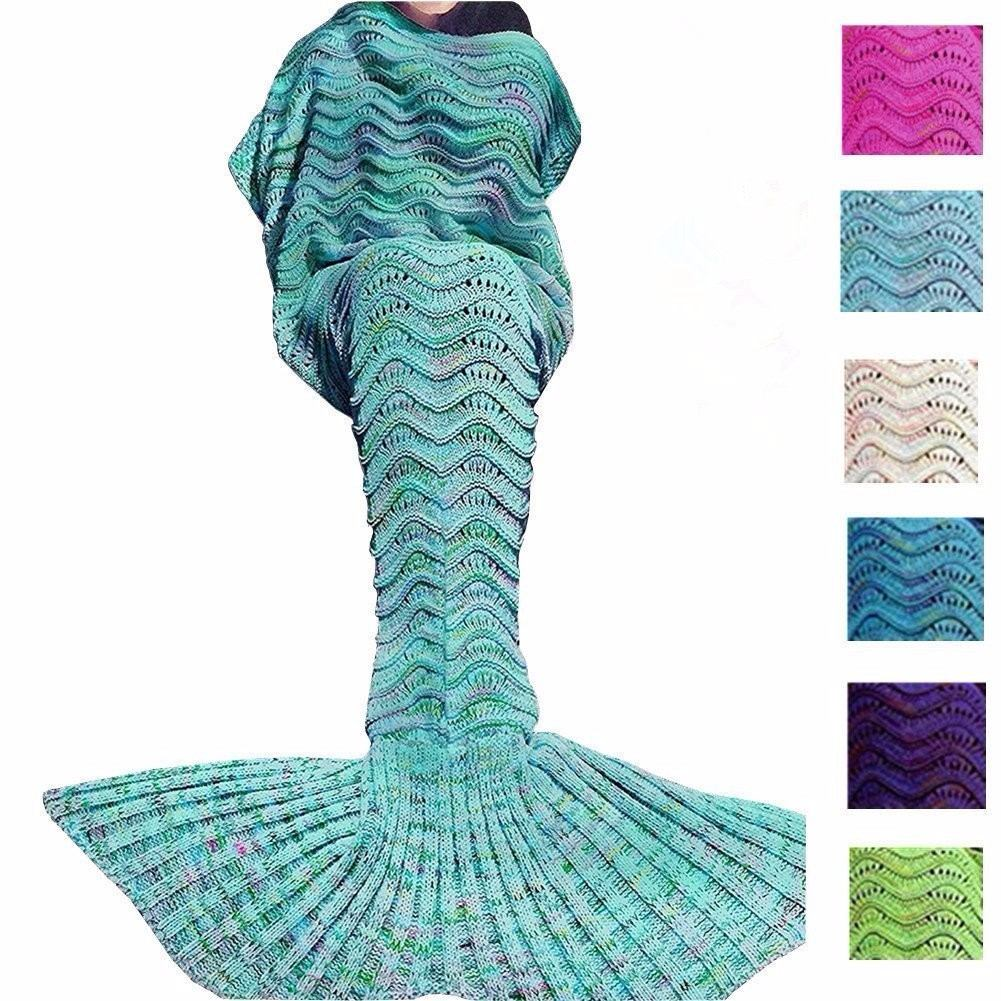 Cobija Cola De Sirena Crochet 1.80m Largo Rosa Envío Gratis ...