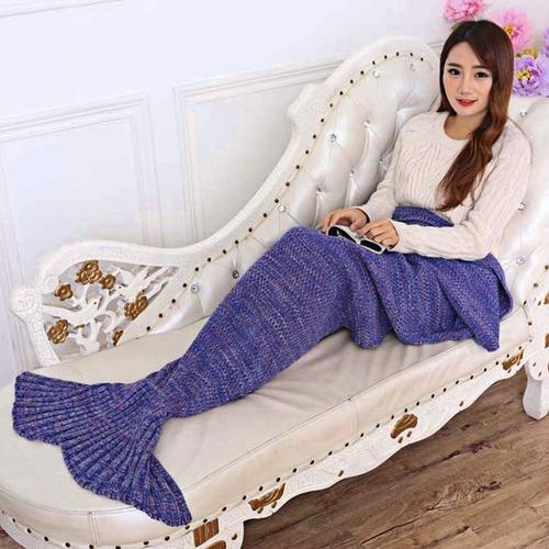 cobija cola de sirena manta 195x95cm no-pilling envío gratis